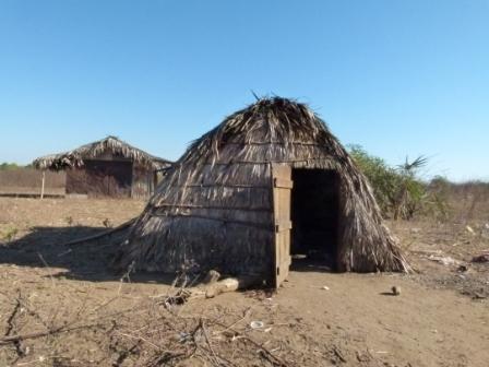 """Les maisons sont parfois de simples huttes de paille """"satrana"""""""